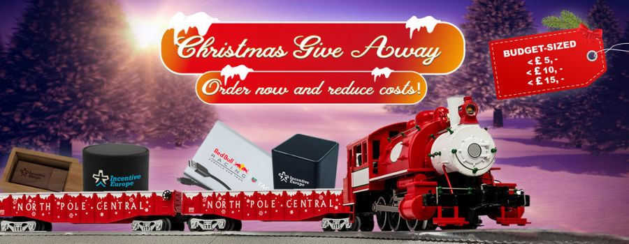 Order your Christmas give away goods now to save money